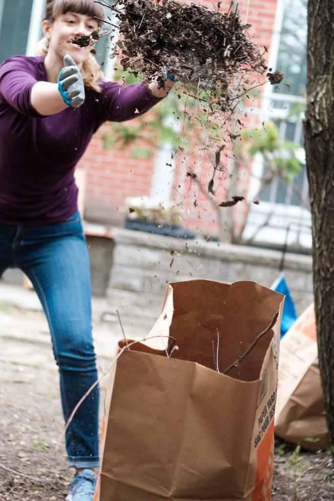 Cassandra practices cross-fit weeding