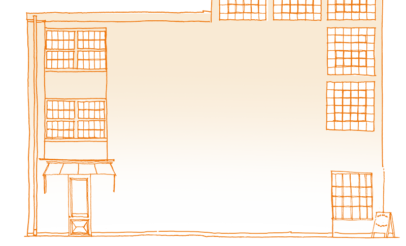 Drawing of a warehouse exterior