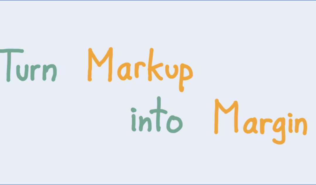 How to convert markup into margin