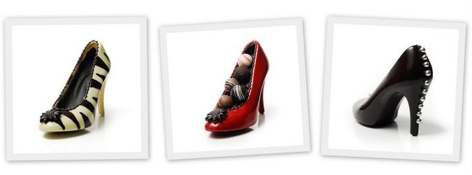 Chocolate Stiletto Heels from Chocostyle