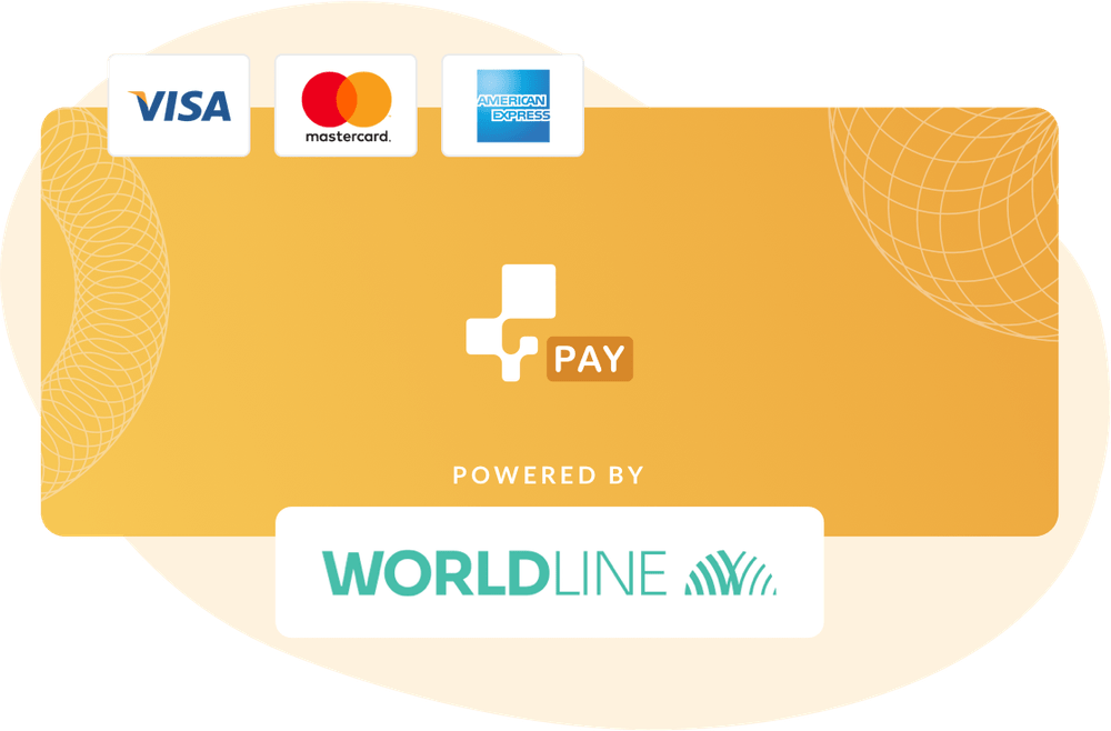 inFlow Pay (powered by Wordline) helps you take payments from Visa, Mastercard, and American Express